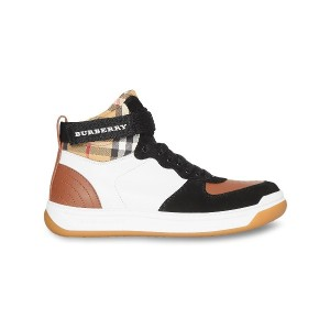 Burberry Leather and Suede High-top Sneakers - ブラウン