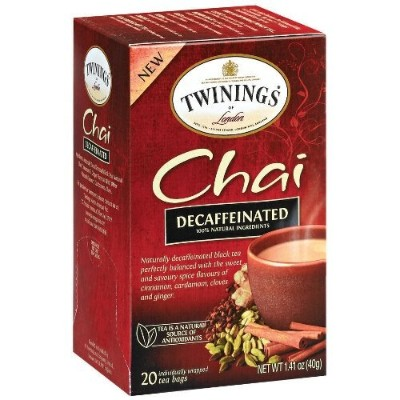 Twinings Decaffeinated Chai Tea, 40 Count by Twinings