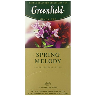 Greenfield Tea, Spring Melody, 25 Count (Pack of 10) by Greenfield
