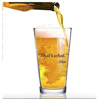 The Office Funny Beer Glass Merchandise Mug That's What She Said Michael Scott Quote Craft Beer...