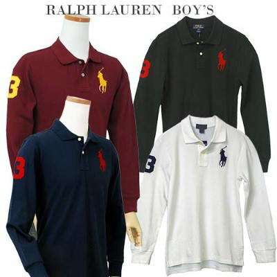 POLO by Ralph Lauren Boy's定番ビッグポニー 長袖 鹿の子ポロシャツ【2019-Spring/NewColor】ラルフローレン ポロシャツ