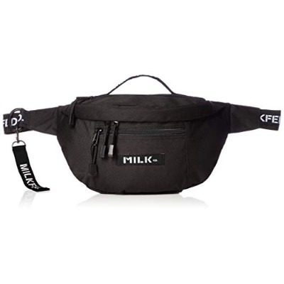 [ミルクフェド]LOGO TAPE MINI FANNYPACK 03180030 BLACK