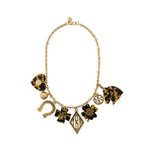 Tory Burch tortoiseshell charm necklace - ゴールド