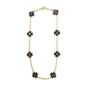 Tory Burch chunky chain necklace - ブラック