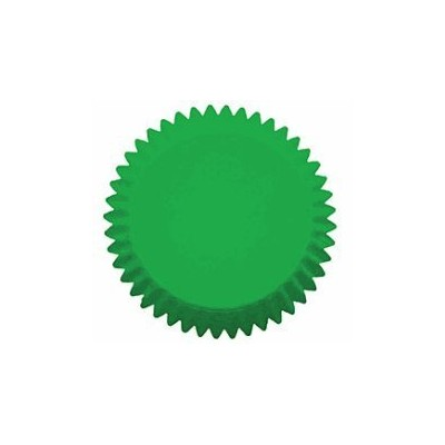 Cakesupplyshop Packaged 100 Bright and Vivid Bold Green Grease Proof Cupcake Liners Standard Baking...