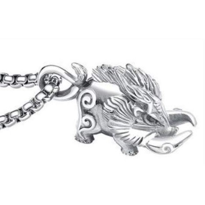(IPPON) 干支ネックレス 猪 イノシシ Boar necklace (Silver)