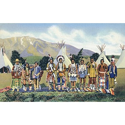 Apache Indians in Camp in the Southwest 12 x 18 Art Print LANT-32674-12x18