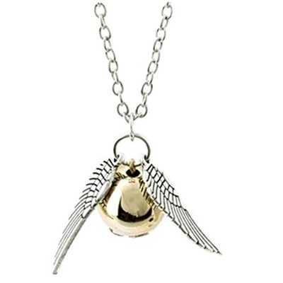 Harry Potter Golden Snitch Necklace、一般的なスタイリッシュな、美しいネックレスby Simonシルバー