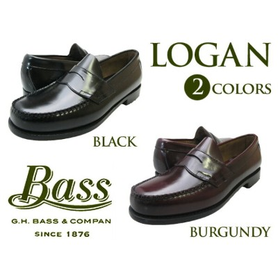 【バス ローガン】 G.H BASS LOGAN BLACK BURGUNDY WINEfs04gm