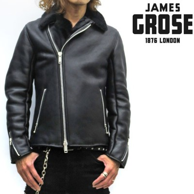 38f740ae59e2 【☆】【正規販売店】JAMES GROSE / SHEARLING DOUBLE JACKET 【 ムートン