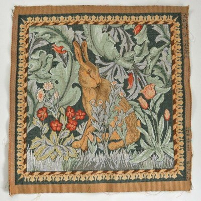 【ART de LYS】 William Morris 8770G LIEVRE TETE A GAUCHE ゴブラン織りパネル生地 (約36×36cm) 【あす楽】【HLS_DU】