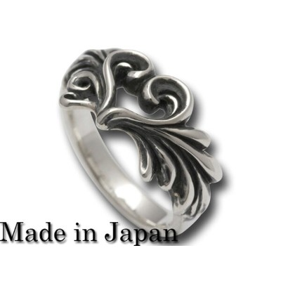cannabis925[scroll wing ring3〜queen of heart](シルバーアクセサリー/シルバー925/Silver925/カンナビス/唐草/リング/指輪/メンズ...