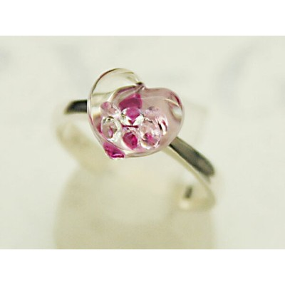 Bijou Heart Glass Ring S 【リング】