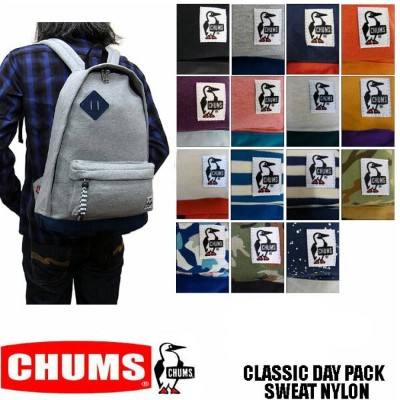 CHUMS CLASSIC DAY PACK SWEAT NYLON CH60-0681 チャムス スウェット×ナイロン素材 リュック バックパック 男女兼用 ユニセックス