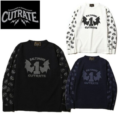 50 CUT RATE カットレイト CREWNECK KNIT SWEATER スウェット