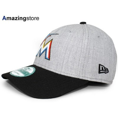 NEW ERA MIAMI MARLINS 【THE LEAGUE 9FORTY ADJUSTABLE/HEATHER GREY-BLK】 ニューエラ マイアミ マーリンズ [18_3RE]