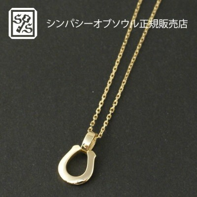 SYMPATHY OF SOUL Small Charm Necklace - Horseshoe - K18 Yellow Gold