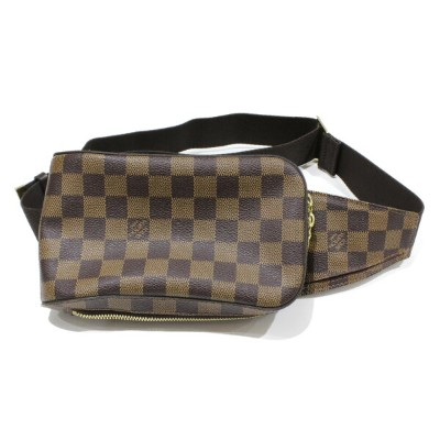 LOUIS VUITTON ルイヴィトンジェロニモス N51994ダミエ・エベヌ ボディバッグコンパクト 人気商品プレゼント包装可 【中古】