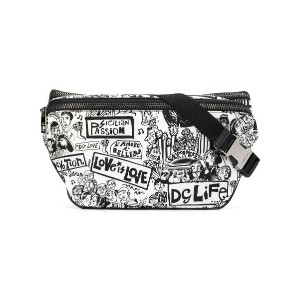 Dolce & Gabbana graffiti print belt bag - ブラック