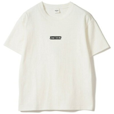 B:MING by BEAMS SOMETHING × B:MING by BEAMS / 別注 ロゴTシャツ 19SS ビームス サムシング ビーミング ライフストア バイ ビームス カットソー