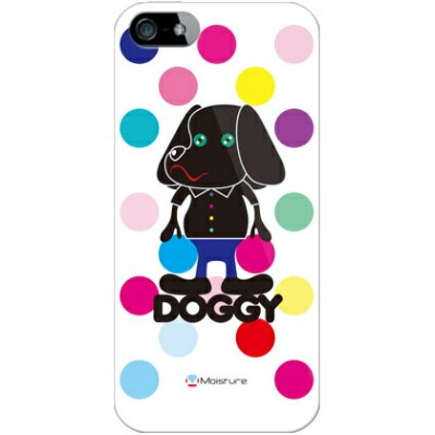 【送料無料】 Doggy マルチカラードット (クリア) design by Moisture / for iPhone SE/5s/SoftBank 【SECOND SKIN】iPhone5sカバー...