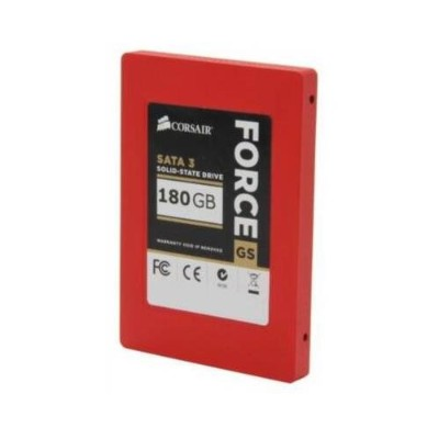 CORSAIR Force Series GS Red 180GB (6Gb/s) SATA 3 SF2200 controller Toggle SSD (CSSD-F180GBGS-BK)