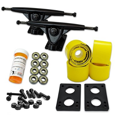 トラック スケボー スケートボード 海外モデル 直輸入 071-Solid Yellow Wheel-Black Trucks Yocaher LONGBOARD Skateboard TRUCKS...