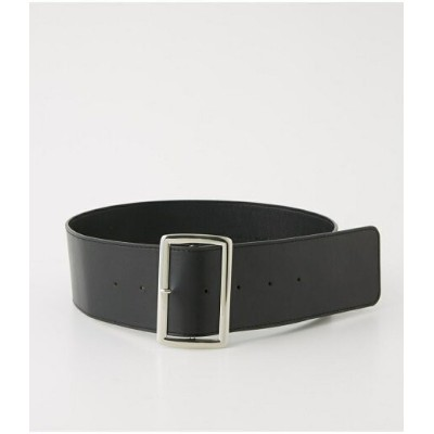AZUL by moussy SQUARE BUCKLE WIDE BELT アズールバイマウジー ファッショングッズ【送料無料】