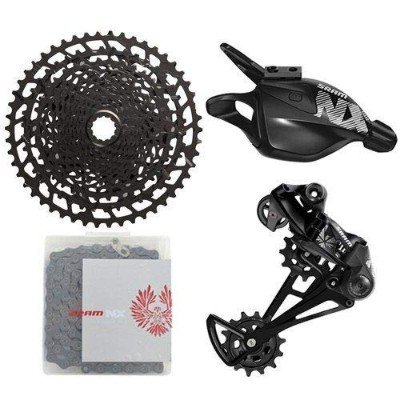 SRAM NX Eagle 12 Speed Groupset MTB Kit 4 piece, Trigger Shifter, Black #SY3487-Self