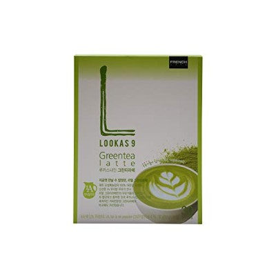 Namyang French Cafe LOOKAS 9 GREEN TEA LATTE オソルロク Osulloc 567g (18.9 x 30 sticks) [並行輸入品]