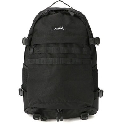 X-girl ADVENTURE BACKPACK B エックスガール バッグ リュック/バックパック ブラック【送料無料】