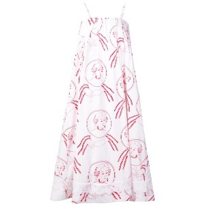 Simone Rocha dreamcatcher print beach dress - ホワイト