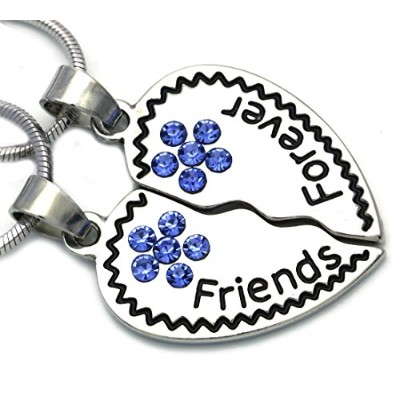 soulbreezecollection Best Friends BFFハートネックレスペンダントチャーム刻印文字