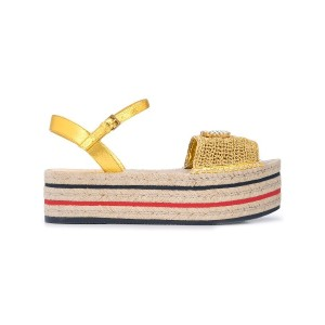 Gucci GG crochet platform sandals - ニュートラル