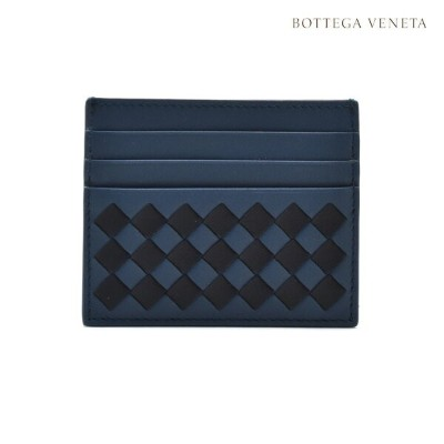 a2e4e3589f17 ボッテガヴェネタ BOTTEGA VENETA 522326 VCOM4/8397 CARD CASE CHECKER NAPPA DENIM  イントレチャート レザー