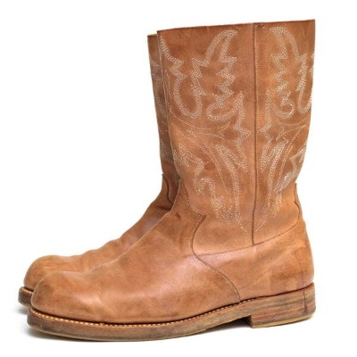 foot the coacher フットザコーチャー/ウエスタンブーツ/boots/shoe/靴 ウエスタンブーツ WESTERN TYPE BOOTS natural 【中古】【foot the...