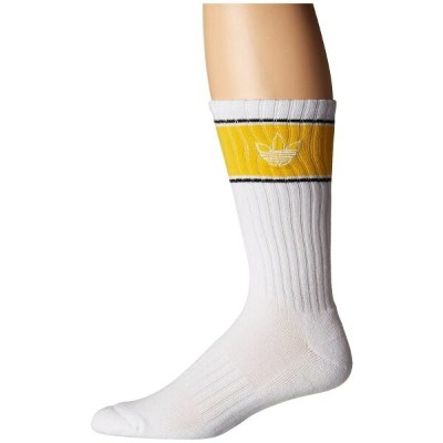 アディダス adidas Originals メンズ バスケットボール【Originals Basketball Single Crew Sock】White/Bold Gold/Black