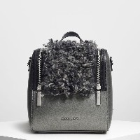 【SALE 50%OFF】ジッパーディテールバックパック / Zipper Detail Backpack (Pewter) レディース