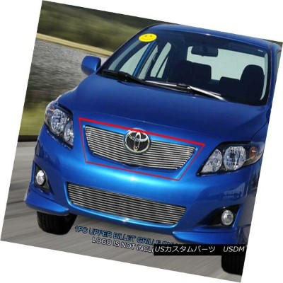 USグリル Fedar Fits 2008-2009 Toyota Corolla Polished Main Upper Billet Grille Fedar 2008-2009トヨタカローラがメ...