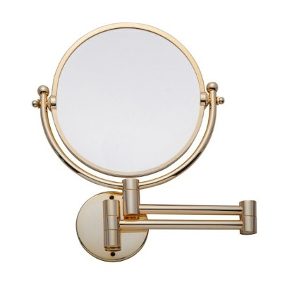 3X/1X Magnification Double side Folding Mirror 【Champagne Gold】Wall Mounted (free delivery)壁付けミラー...