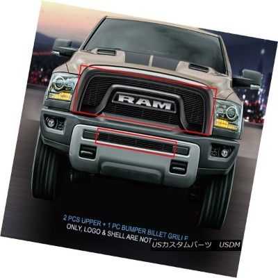 グリル Fedar Fits 2015-2017 Dodge RAM Rebel 1500 Black Billet Grille Insert Fedarフィット2015-2017ドッジRAM...