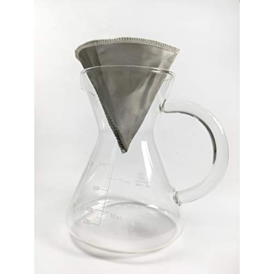 CUG pour OverコーヒーメーカーセットwithステンレススチールEcoコーヒーフィルタと精度Measuring Cup