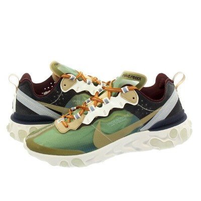 NIKE × UNDERCOVER REACT ELEMENT 87 ナイキ アンダーカバー リアクト エレメント 87 GREEN MIST/LINEN/SUMMIT WHITE/DEEP...