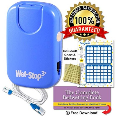 Wet-Stop3 Blue Bedwetting Enuresis Alarm with Sound and Vibration Bed Monitor For Bedwetters: Potty...