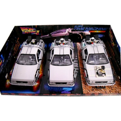 Delorean TIME MACHINE Back To The Future Trilogy Pack 1/24 Welly 9259円【 バック トゥ ザ フューチャー ミニカー セット...