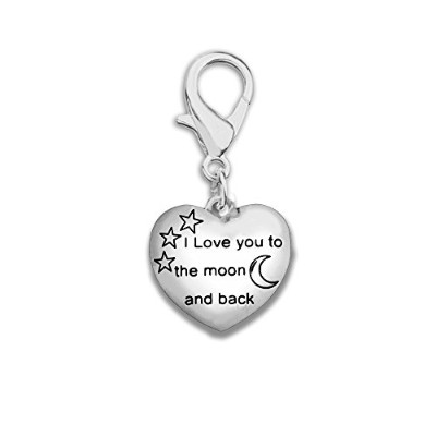 I Love You To The Moon And Back Hangingチャーム( Retail )