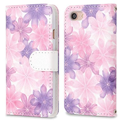 [MINT] iPhone8 iPhone7 iPhone6s/6 手帳型ケース フローラルピンク 花柄