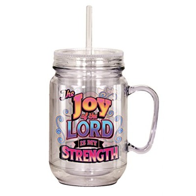 "Spoontiques "" The Joy of the Lord "" Mason Jar ,マルチカラー"