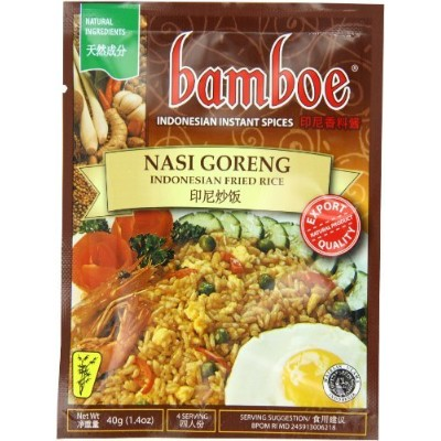 Bamboe Nasi Goreng Fried Rice, 1.2-Ounce (Pack of 12) by Bamboe