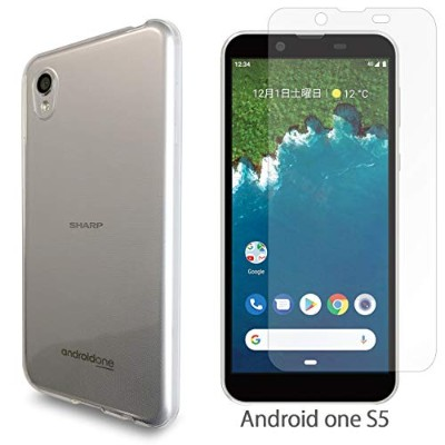 10e760e3ce Android One S5 クリアTPU + 強化ガラス シール セット ケース カバー スマホ androidones5  androidones5ケース